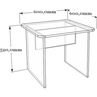 Схема стола детского 19-010.