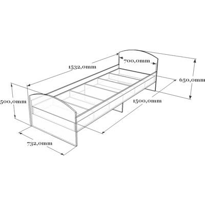 Схема кровати детской 19-013.