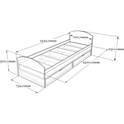 Схема кровати детской 19-014.